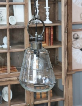 "Chic Antique ""Factory"" Glass Stor"