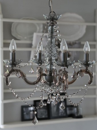 """Chic Antique Lysekrone 4 Armer """"Gr�"""""""